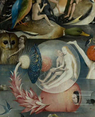 Hieronymus Bosch. The garden of earthly delights. A fragment of the Central part of the triptych