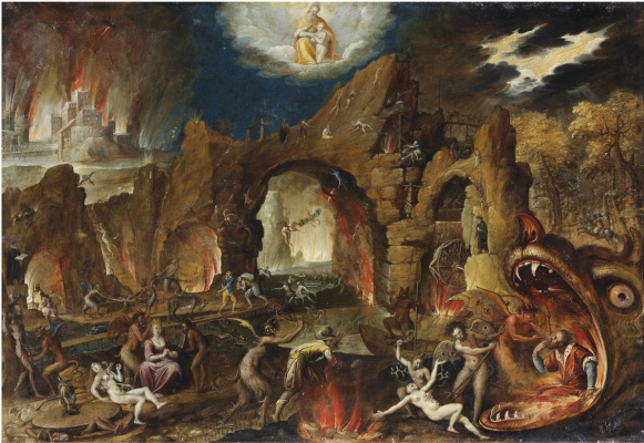 Isaac Klas van Swanenburg. The descent into Hell