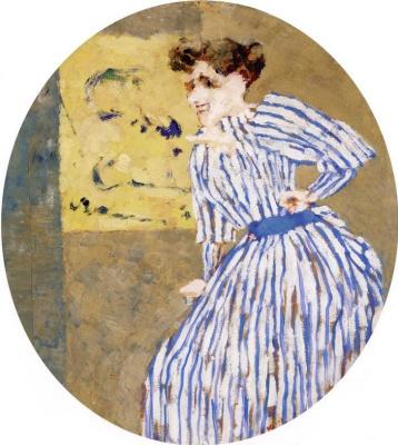 Jean Edouard Vuillard. Striped dress