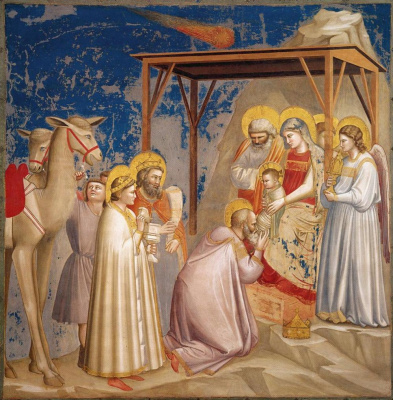 Giotto di Bondone. Adoration of the Magi. Scenes from the life of Christ