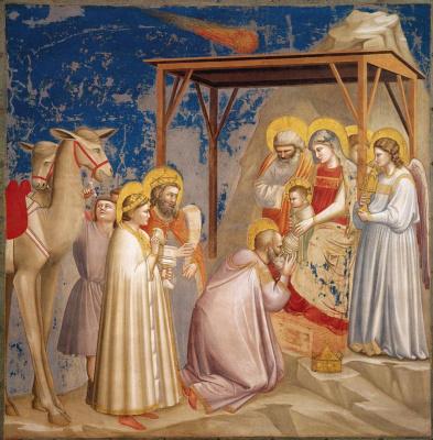 Giotto di Bondone. Adoration of the Magi. Scenes from the life of Christ