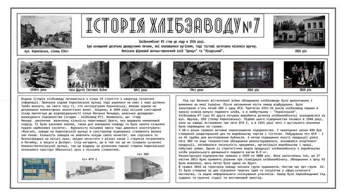 Евгений Юрьевич Валюк. History of Kiev Bread Factory number 7