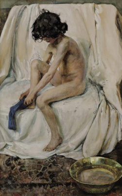 Elena Dmitrievna Polenova. After bathing
