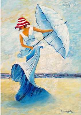Tatyana Nikolaevna Feoktistova. Woman with umbrella