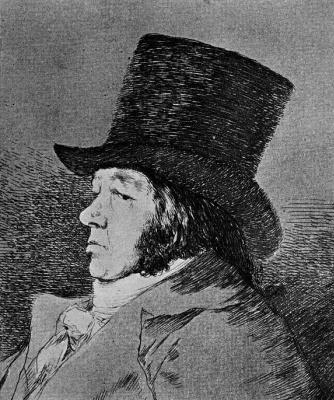 "Francisco Goya. Series ""Caprichos,"" sheet 1: Francisco Goya and Lucientes, painter"