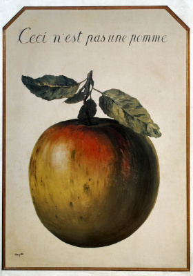 René Magritte. This is not an Apple