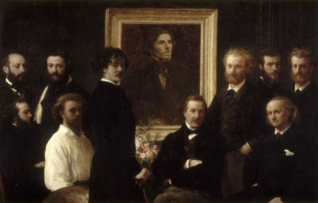 Henri Fantin-Latour. Dedication Delacroix