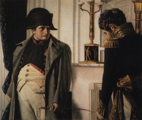 "Vasily Vasilyevich Vereshchagin. Napoleon and Marshal Lauriston (""Peace at all costs!"")"