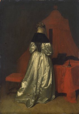 Gerard Terborch (ter Borch). Young woman in her room