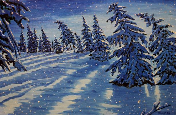Vladimir Adamovich Ropot. Snow is falling.....