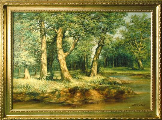 "Andrei Ivanovich Boravik. Explanation I. Shishkin ""Oak forest"""
