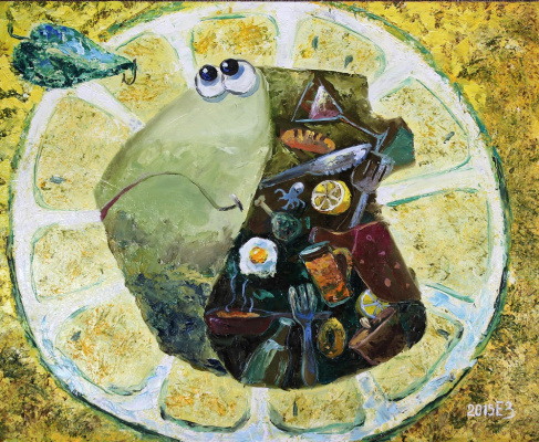 Elena Nikolaevna Zorina. Fish under lemon