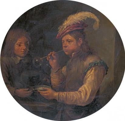 Давид Тенирс Младший. Мальчик, надувающий пузыри