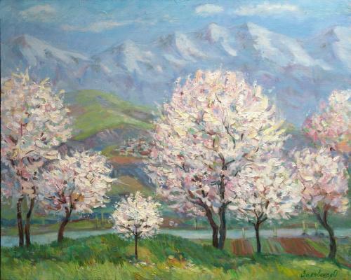 Oksana Viktorovna Zalevskaya. Flowering almond