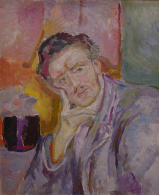 Edvard Munch. Self-portrait with hand at cheek