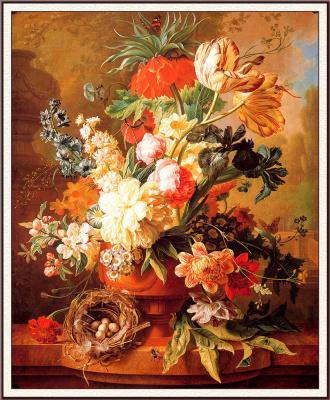 Пауль Теодор ван Брюссель. Ваза с цветами