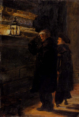 John Everett Millais. Greenwich. Pensioners at the tomb of Nelson
