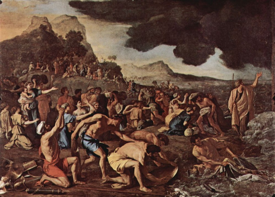 Nicola Poussin. The crossing of the Red sea