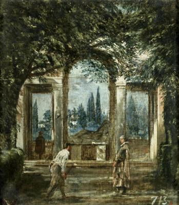 Diego Velazquez. Villa Medici in Rome. Noon