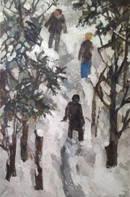 "Ekaterina Lebedeva. ""Saw a bird in winter forest"""