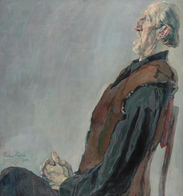 Pavel Dmitrievich Korin. Portrait of an old man. M. K. Kholmogorov