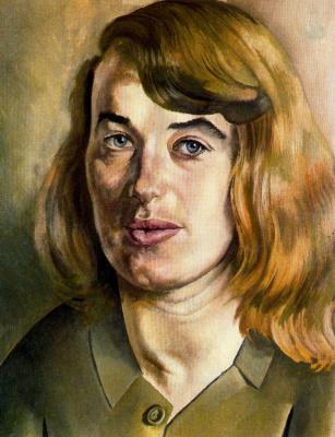 Stanley Spencer. Female portrait
