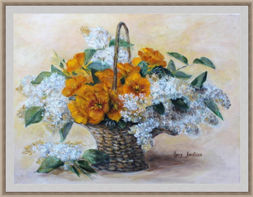Olesya Alexandrovna Lopatin. A basket of flowers
