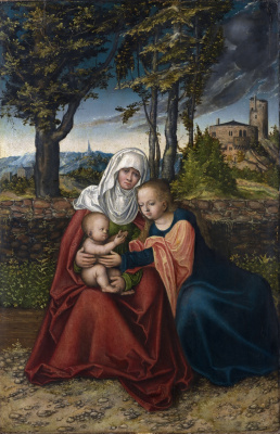 Lucas Cranes the Elder. SV. Anna with Maria and child