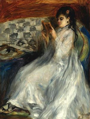 Pierre-Auguste Renoir. Reading girl