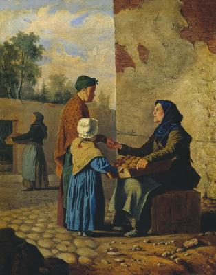 Игнатий Степанович Щедровский. Торговка апельсинами. 1839