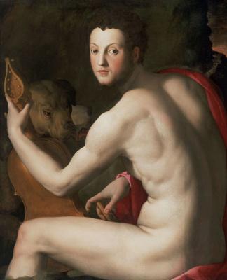Agnolo Bronzino. Portrait of Cosimo I Medici as Orpheus