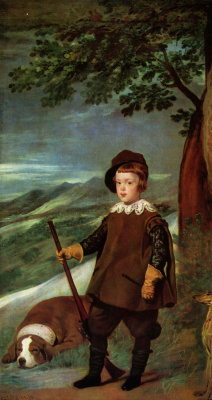 Diego Velazquez. Portrait of Prince Baltasar Carlos in hunting dress