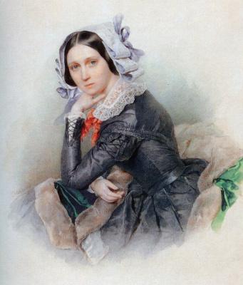 Петр Федорович Соколов. Аглая Павловна Голицына 1840-e
