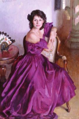 Аллан Бэнкс. Женщина в фиолетовом платье