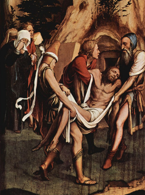 Hans Holbein The Younger. Passion of Christ. Fragment