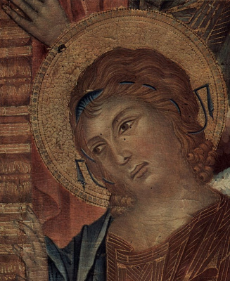 Ченни ди Пепо Чимабуэ. Мадонна на троне с восемью ангелами и четырьмя пророками, деталь