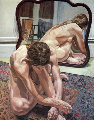 Филипп Перельштейн. Обнаженная модель перед зеркалом