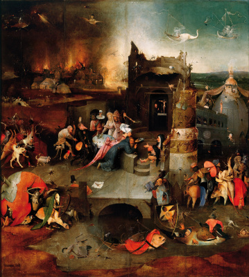 Hieronymus Bosch. The Temptation Of St. Anthony. The Central part of the triptych