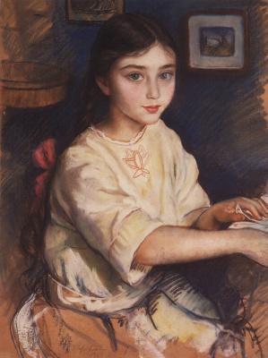 Zinaida Evgenievna Serebryakova. Portrait of O. I. Rybakova in childhood