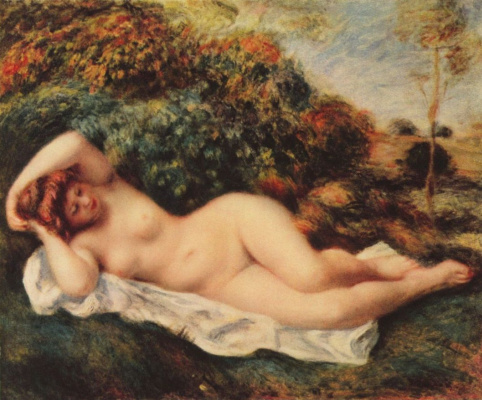 Pierre-Auguste Renoir. Sleeping bather