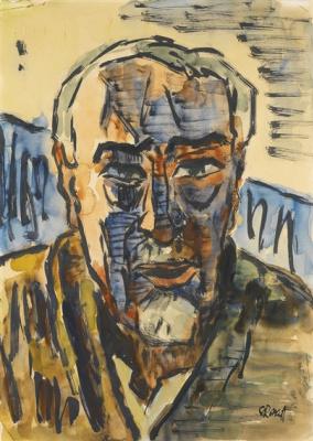 Karl Schmidt-Rottluff. Self-portrait