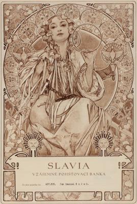"Alphonse Mucha. Insurance Bank ""Slavia"""