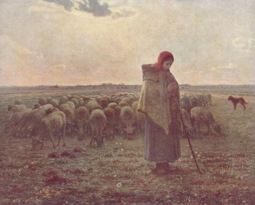 Jean-François Millet. Cowgirl
