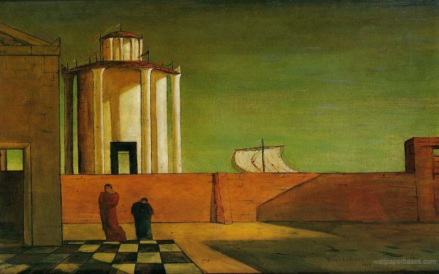 Giorgio de Chirico. Arrival mystery