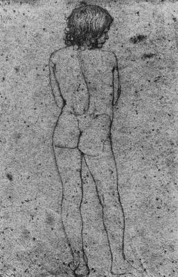 Франц Пфорр. Мальчик, фигура со спины