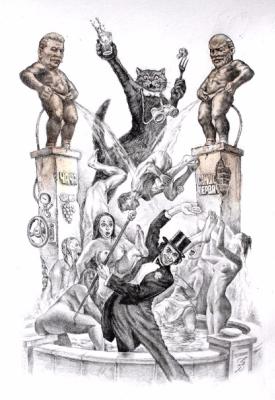 "Alexander Petrovich Botvinov. Fountain""Manneken Pis"" at the ball at Satan's"