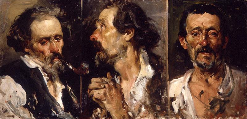 Joaquin Sorolla (Soroya). Three sketches of the head