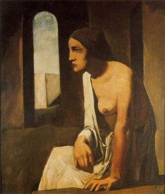 Марио Сирони. Полуобнаженная женщина
