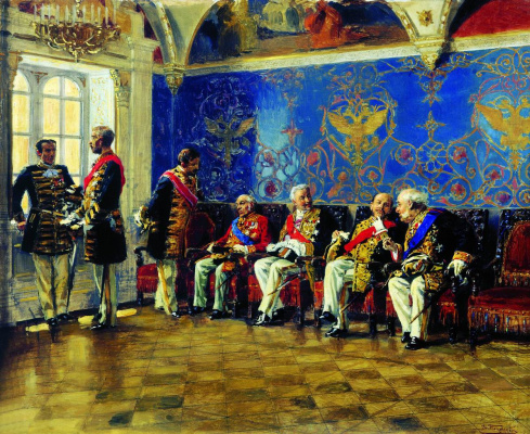 Vladimir Egorovich Makovsky. Waiting for an audience