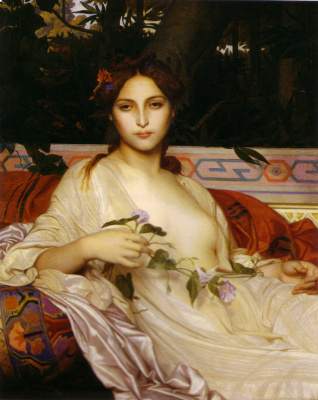 Alexandre Cabanel. Woman with flowers